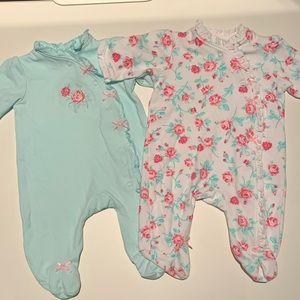 Little Me newborn footies